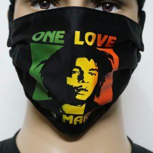 Bob Marley-One Love Mask/Face Mask