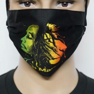 Bob Marley-Lion-Rasta Colors Mask/Face Mask